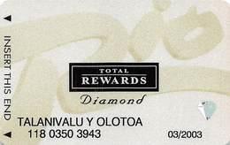 Rio Casino Las Vegas NV - TR Diamond Slot Card With No Date - Casino Cards