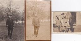 Lot 7 Photographies Papier - Soldat Identifié - 15ème Régiment D'Infanterie Territoriale ? à Laon (02) - Guerre 1914-16 - Photos