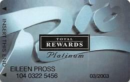 Rio Casino Las Vegas NV - TR Platinum @2001 Slot Card - Casino Cards
