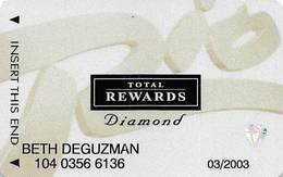 Rio Casino Las Vegas NV - TR Diamond @2001 Slot Card - Cartes De Casino