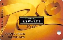 Rio Casino Las Vegas NV - TR Gold @2003 Slot Card - Casino Cards