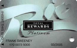 Rio Casino Las Vegas NV - TR Platinum @2003 Slot Card - Casino Cards