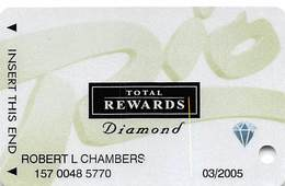 Rio Casino Las Vegas NV - TR Diamond @2003 Slot Card - Casino Cards