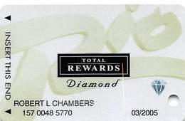 Rio Casino Las Vegas NV - TR Diamond @2003 Slot Card - Cartes De Casino