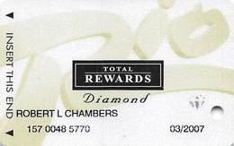 Rio Casino Las Vegas NV - TR Diamond @2005 Slot Card - Casino Cards