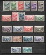 Andorre Timbres De 1937/43  N°72 A 92  Neufs ** Et * Cote Plus De 215€ - French Andorra