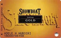 Showboat Casino - Atlantic City NJ - Total Gold Slot Card - Casino Cards