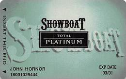 Showboat Casino - Atlantic City NJ - Total Platinum Slot Card - Casino Cards