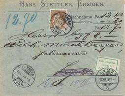 Schweiz: 1915: Ersigen Nach Lyss, Nachnahme Nicht Eingelöst, Zurück - Switzerland