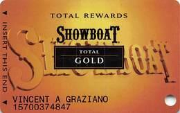 Showboat Casino - Atlantic City NJ - Total Rewards Total Gold Slot Card - Casino Cards