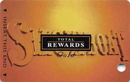 Showboat Casino - Atlantic City NJ - Total Rewards Gold Slot Card - No Date - BLANK - Cartes De Casino
