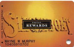 Showboat Casino - Atlantic City NJ - Total Rewards Gold Slot Card - No Date - Cartes De Casino