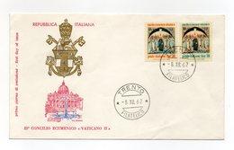 Italia - 1962 - Busta FDC Filagrano - 21° Concilio Ecumenico Vaticano II° - Con Doppio Annullo Trento - (FDC13823) - 6. 1946-.. Repubblica