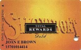 Showboat Casino - Atlantic City NJ - Total Rewards Gold @2005 Slot Card - Casino Cards