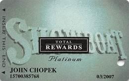 Showboat Casino - Atlantic City NJ - Total Rewards Platinum @2005 Slot Card - Casino Cards