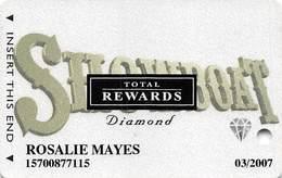 Showboat Casino - Atlantic City NJ - Total Rewards Diamond @2005 Slot Card - Casino Cards