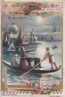 2 Chromos -- Vues De Venise -- Sérénade -- En Gondole - Liebig