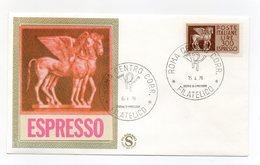 Italia - 1976 - Busta FDC Filagrano - Espresso - Con Doppio Annullo Trento - (FDC13824) - 6. 1946-.. Repubblica