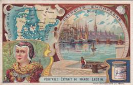 2 Chromos -- Détroits Européens -- Sund -- Gibraltar - Liebig