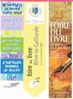 5 Marque-pages -   De La Foire Du Livre  De BRIVE , 2000 ,2003 ( 2 Modèles Diff ) 2005 , Sncf , Signet , Marque Page , - Segnalibri