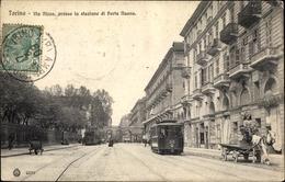 Cp Torino Turin Piemonte, Via Nizza, Stazione Di Porta Nuova - Altri