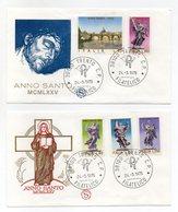 Italia - 1975 - 2 Buste FDC Filagrano - Anno Santo 1975 - Con Doppio Annullo Trento - (FDC13827) - 6. 1946-.. Repubblica