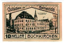 Billet, Autriche, Buchkirchen O.Ö. Gemeinde, 20 Heller, Batiment 1, 1920 - Autriche