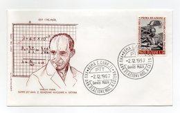 Italia - 1967 - Busta FDC Filagrano - Enrico Fermi - Con Doppio Annullo Roma - (FDC13830) - 6. 1946-.. Repubblica