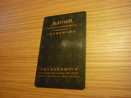 China Shanghai Hongqiao Marriott Hotel Room Key Card (version B) - Cartes D'hotel