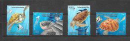 Timbres Du Bloc : Les Tortues Marine De Nouvelle Calédonie.  (Voir Commentaires) - Marine Life