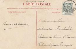 664/27 - Carte-Vue TP 81 LIEGE QUITTANCES DEPOT 1909 - Cachet RARE Et ANORMAL Sur Correspondances Ordinaires - 1893-1907 Wappen