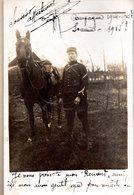2 Cartes Photos.César JACQUOT .Maréchal Des Logis,Fourrier.10e S.M.A. 6e Régiment D'artillerie.S.P.122. Campagne 1914-15 - 1914-18