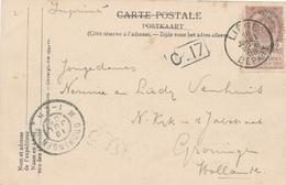 666/27 - Carte-Vue TP 55 LIEGE DEPART 1905 Vers GRONINGEN NL - TARIF PREFERENTIEL IMPRIME à 2 C Au Lieu De 5c - 1893-1907 Wappen