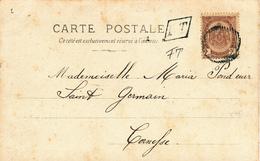 667/27 - Carte-Vue TP 55 RARE Cachet RURAL à Barres + Boite Urbaine FT Dans Parallélogramme - De CORNESSE 1903 En Locale - 1893-1907 Wappen