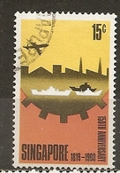 Singapour Singapore 1969 Founding Of Singapore Obl - Singapour (1959-...)
