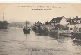 SOISSONS - Inondations Janvier 1910 - Quai Saint Waast - Soissons