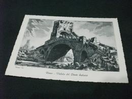 ROMA VEDUTA DEL PONTE SALARIO   ILLUSTRATA - Ponts