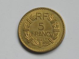 5 Francs 1946 - LAVRILLIER ****  EN ACHAT IMMEDIAT  ***** - France