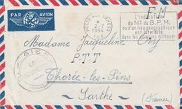 Poste Aux Armées TOE 1954 - Flamme L'indication Du N° Du BPM ... - Indochine - Vaguemestre SP 61624 - Postmark Collection (Covers)