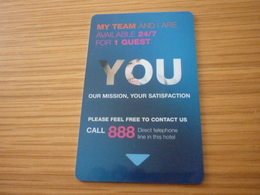 Singapore Clarke Quay Novotel Hotel Room Key Card - Cartes D'hotel
