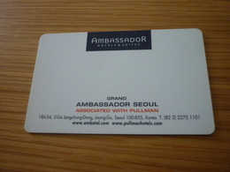 South Korea Seoul Pullman Ambassador Hotel Room Key Card - Cartes D'hotel