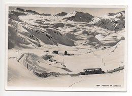 JULIERPASS Im Winter Postauto - GR Grisons