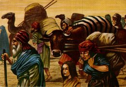 CHROMO  ENCYCLORAMA  LA VIE DE NOS ANCETRES  LES HEBREUX - Trade Cards