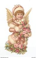 CHROMO DECOUPIS PETITE FILLE ANGE - PICCOLO ANGELO DELLA RAGAZZA - SMALL GIRL ANGEL - KLEINE MÄDCHEN-ENGEL - Autres