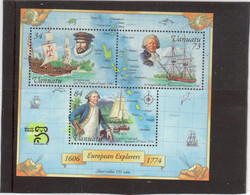 M27 - VANUATU - Bloc Feuillet 33 ** MNH De 1999 - QUIROS San Pedro Y Paulo- BOUGAINVIILE La Boudeuse-COOK Résolution - - Vanuatu (1980-...)