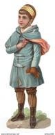CHROMO DÉCOUPIS GAUFRÉ 6 X 16,7 Cm - PETIT GARCON UNIFORME CAPE GANTS BOTTES - Enfants