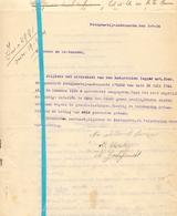 Brief Lettre - Schelbaut - Godefroidt Uit Petegem Oudenaarde  - Naar Kadaster 1924 + Brief Met Antwoord - Non Classés