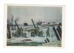 04913 Soviet Russia Artillery Before Offensive 1943 Artist Aleksandr Deyneka - Guerra 1939-45