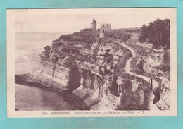 Small Post Card Of Les Grottes Et Le Moulin Du Duc,Meschers,Saintes, Charente-Maritime, Poitou-Charentes, France,Q94. - Meschers