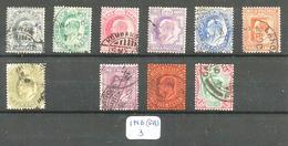 IND (GB) YT 57/67 ( Sauf 64 ) En Obl. - Indien (...-1947)